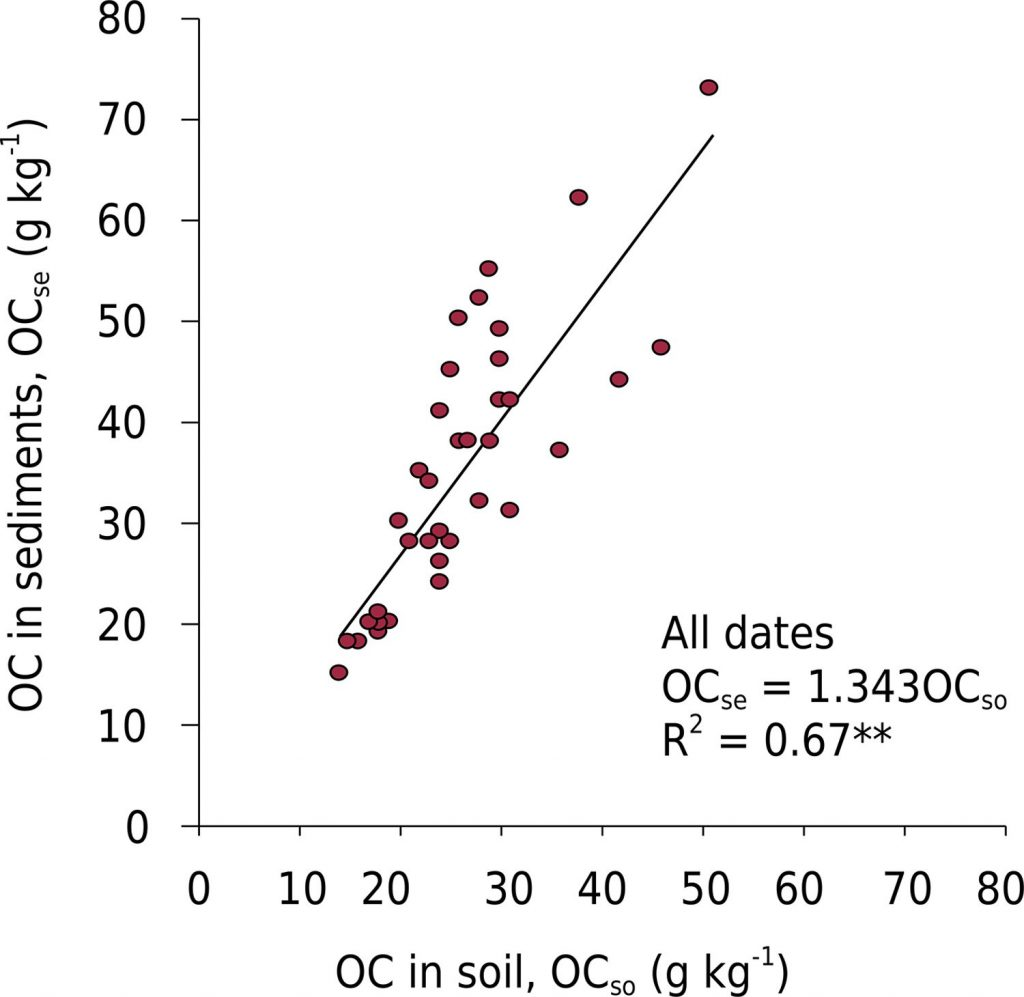 Nutrient and Organic Carbon Losses, Enrichment Rate, and